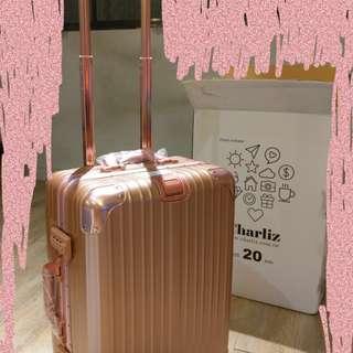 🚚 Charlie玫瑰金行李箱