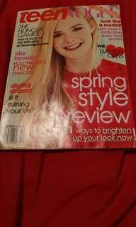Teen Vogue Magazine. Elle Fanning