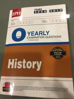 O level History TYS (2008-2017) answer key included