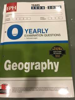 O level Geography TYS (2008-2017) answer key included