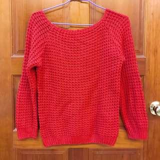 🚚 紅色毛衣