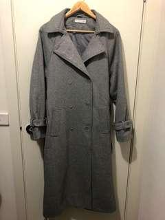 Long Korean Grey Coat