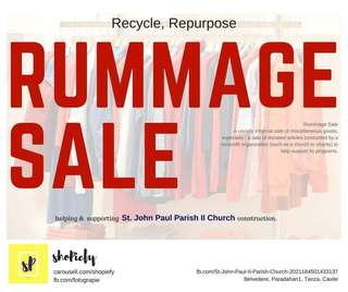 Recycle, Repurpose, Rummage Sale Soon!