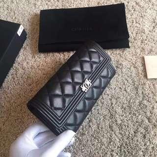 Chanel長款銀包