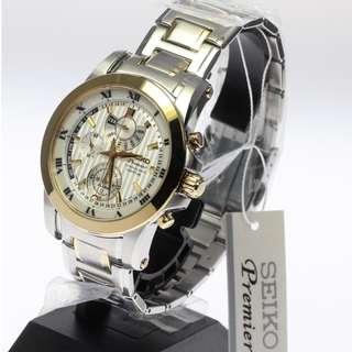 BNIB  Seiko Premier Chronograph Perpetual Calendar SPC162 SPC162P1 SPC162P  Mens Watch b90c33d459