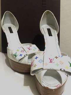 Original LOUIS VUITTON PLATFORM HEELS MULTICOLORE RARE!
