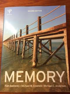 Memory 2nd edition by Baddeley, Eysenck & Anderson
