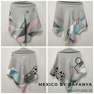 (Sale last stock) Jilbab segiempat MEXICO by DAFANYA