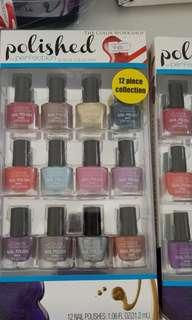 12 pcs. Imported nail polish.