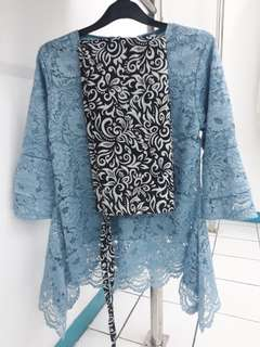 Set blus brukat baby blue