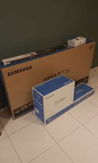 Empty box of samsung led tv 49inch (with styrofoam)
