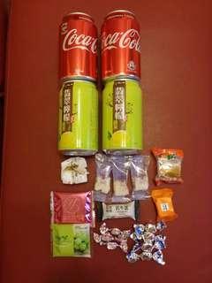 汽水及零食一堆