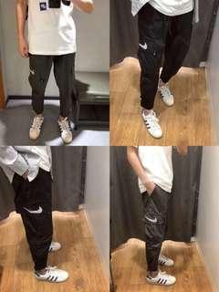 Nike 反光logo工裝褲 in 2 colors