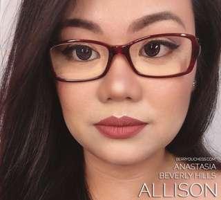 💋Allison Anastasia Beverly Hills Matte Liquid Lipstick