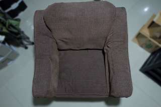 cushioned one seater with armrest