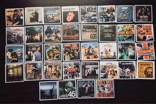Retro album stickers