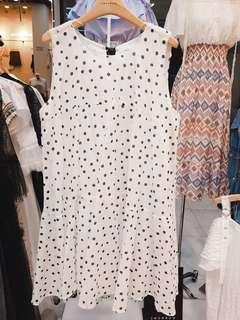 🚚 正韓  2018全新商品  後綁帶點點洋裝