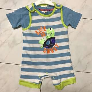 Bluezoo Baby Romper Set 6-9mths