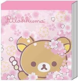 🚚 正版授權 SAN-X RILAKKUMA 拉拉熊 懶懶熊 48K方形便條紙
