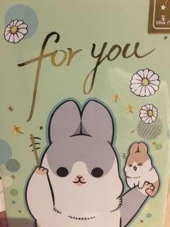 萬用卡 生日卡 ㄇㄚˊ幾兔