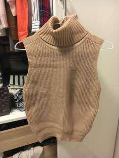 Beige / nude Knitted TOP turtleneck