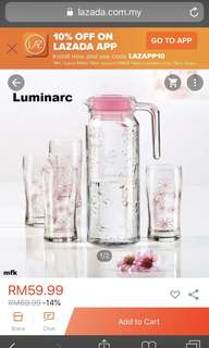 Luminarc Jug & Glasses Set