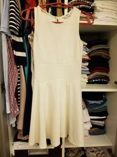 MISS SELFRIDGE White textured dress