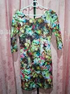 Dress bunga abstract arithalia