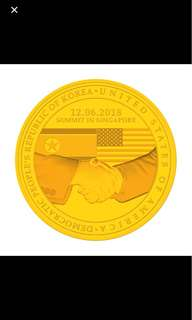 US North Korea Summit Gold Medallion