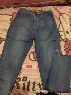 Celana jeans HW telur asin