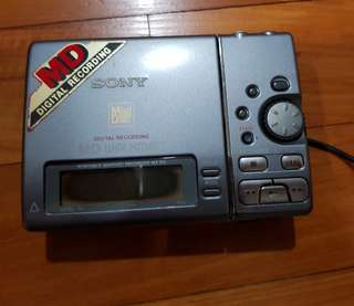 Vintage Mini Disc Recording Walkman Sony