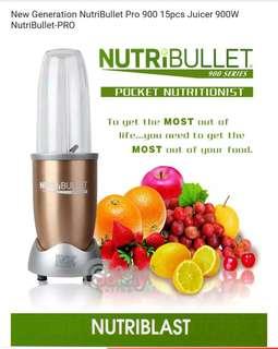 NutriBullet Pro 900W 900 series 15pc superfood blender