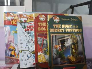Special Edition Geronimo Stilton Books & hero mice