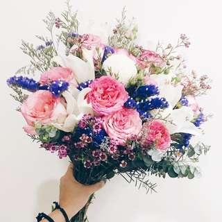 Designer secret garden bridal bouquet WD134