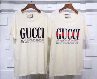 Gucci tee in 2 colors logo