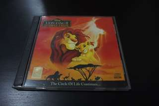 The Lion King 2: Simba's Pride VCD (Original)
