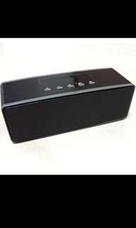 Standard Chartered Portable Bluetooth Speaker FM Radio MicroSD Card USB Black 14 x 4.5 x 5 CM