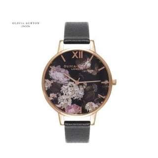 英國品牌 Olivia Burton London Watch 魔法花園 氣質百搭 女 手錶 真皮錶帶 花鳥蝴蝶 (OB05)