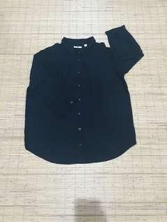 Uniqlo rayon blouse 3/4