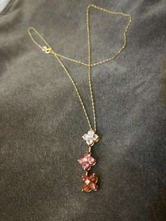 Rositas Multi Hued Sapphires with Diamond Centers Necklace