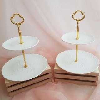 Dessert Table Props Rental_European-Style Ceramic Cupcake Stand
