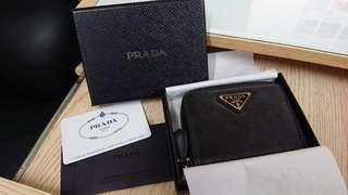 8成新, 購至法國, Prada Saffiano Wallet / 散子包