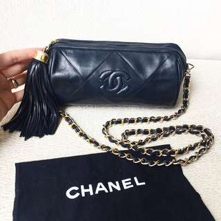 AUTHENTIC CHANEL Cross body / Sling Tassle Bag
