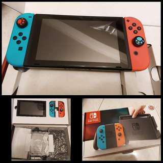 Nintendo Switch 主機(瑪莉歐配色 紅藍機)
