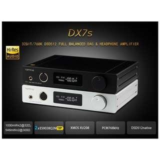 🚚 Group Buy (End 22nd Jul) - TOPPING DX7s 2*ES9038Q2M 32Bit/768K DSD512 Full balanced DAC & Headphone amplifier XMOS(XU208)+OPA1612