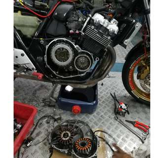Magnet Coil + Clutch plate + Clutch gasket