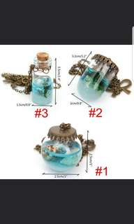 🚚 🔥IN STOCK🔥Deep in the Sea/ Ocean Long Bottle Charm Pendant Necklace