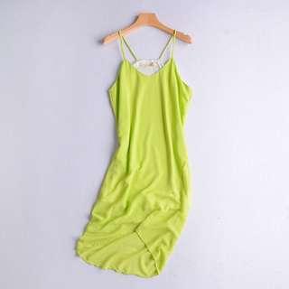🚚 101399韓版時尚百搭性感不規則雪紡吊帶連身洋裝L    #女裝半價拉