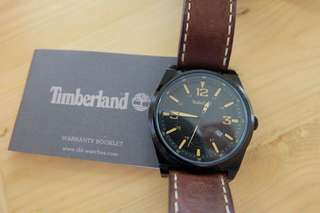 Timberland watch leather strap brown