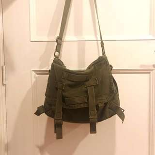 Original topshop army green sling bag